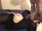 Face Fucked Cumshot On Pantyhose