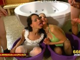 Queen Viktoria And Hottie Aymie Piss Freaks – 666Bukkake