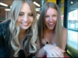 Two Girls Taking Off Their Clothes In Public Cafe While Being Watched