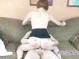 Redhead Layla Riding A Lucky Geeks Stiff Cock