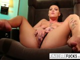 Tattooed MILF Jezebelle Toys Her Pussy In A Hotel Room