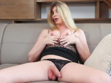 VRB Trans – Small Tits Blonde TS Milf Masturbating And Ass Play
