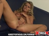 Blonde Striptease And Masturbates