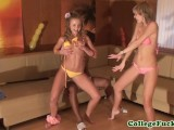 College Euro Striptease At Sexparty