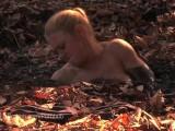 Hot Blonde MILF Struggles In Quicksand