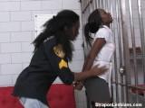 Ebony Inmate Gets Assfucked By Ebony Officer