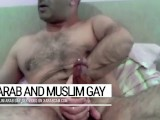 Cum Splashes On A Furry Body. Arab Gay Libyan Is A Fountain Of Manhood
