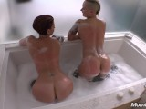 Two Tattooed Milfs Have Public Lesbian Fun