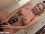 Busty Milf Penetrating A Massive Brown Brutal Dildo Until She Squirts In HD