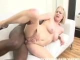 Blonde Milf Sucks And Fucks A Big Black Cock Into Interracial Sex Scene