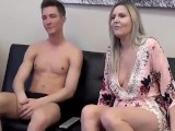 Lucky 18yo Stepson With Big Cock Fucks And Cums Inside His Mature Stepmom