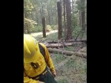Real Wildfire Worker Pulling His Cock Out And Cumming