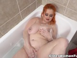 Euro BBW Milf Kathy Takes A Relaxing Orgasmic Bath
