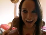 Pornstar Brunette Francys Belle Doing A Striptease Live Webcam