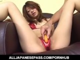Lusty Asian Milf Nagisa Sasaki Gets Hairy Pussy Masturbated With Sex Toy