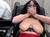 CAMSODA – OFFICE MILF WITH BIG NIPPLES SQUIRTS FROM HER LACTATING TITS AND ALMOST GETS BUSTED