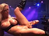 Busty German Milf Toying On Public Stage