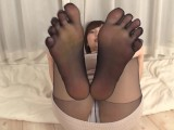 EVIS-312 – Pantyhose Footjob: Lotion And Love From All Five Toes